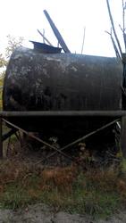 Большая металлическая бочка Диаметр1, 7*Длина2м